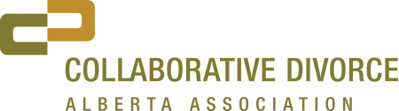 Logo for Collaborative Divorce Alberta Association, a resource for anyone who wants an out of court divorce or a no contest divorce, including divorce counselling help from a mental health specialist or a financial planning advisor.