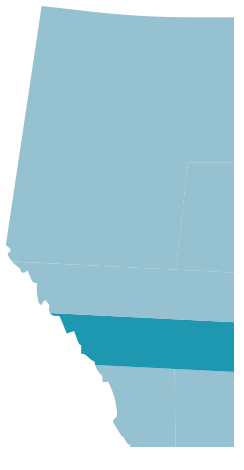 Map of Calgary and Area