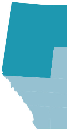 Map of Edmonton and area